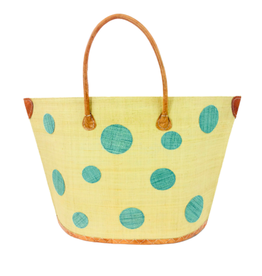 Accessories Shop by Place & Gather Capri Dot Raffia Bag in Cornflower Blue