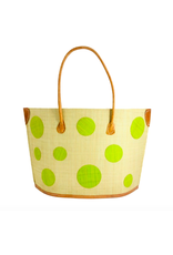 Accessories Shop by Place & Gather Capri Dot Raffia Bag in Lime