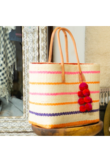 Accessories Shop by Place & Gather Capitola Raffia Bag in Pin Stripes Pink