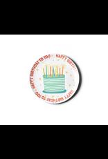Coton Colors Happy Birthday Melamine Plate
