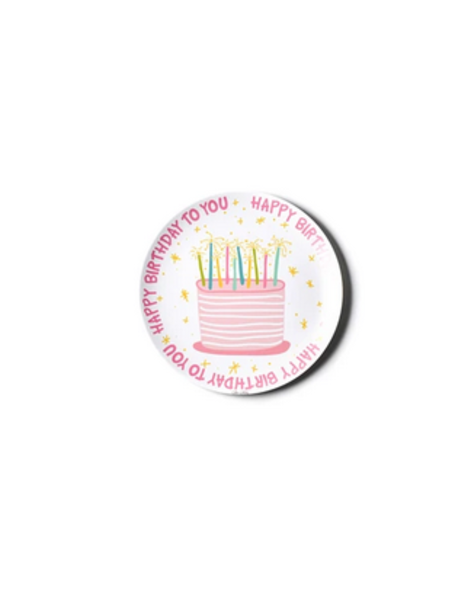 Coton Colors Happy Birthday Melamine Plate in Pink