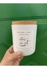 Feather + Finn Citrus + Sea Salt Candle by Feather + Finn