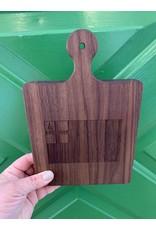 Maple Leaf at Home Bunker Hill Flag 9x6 Walnut Handled Board