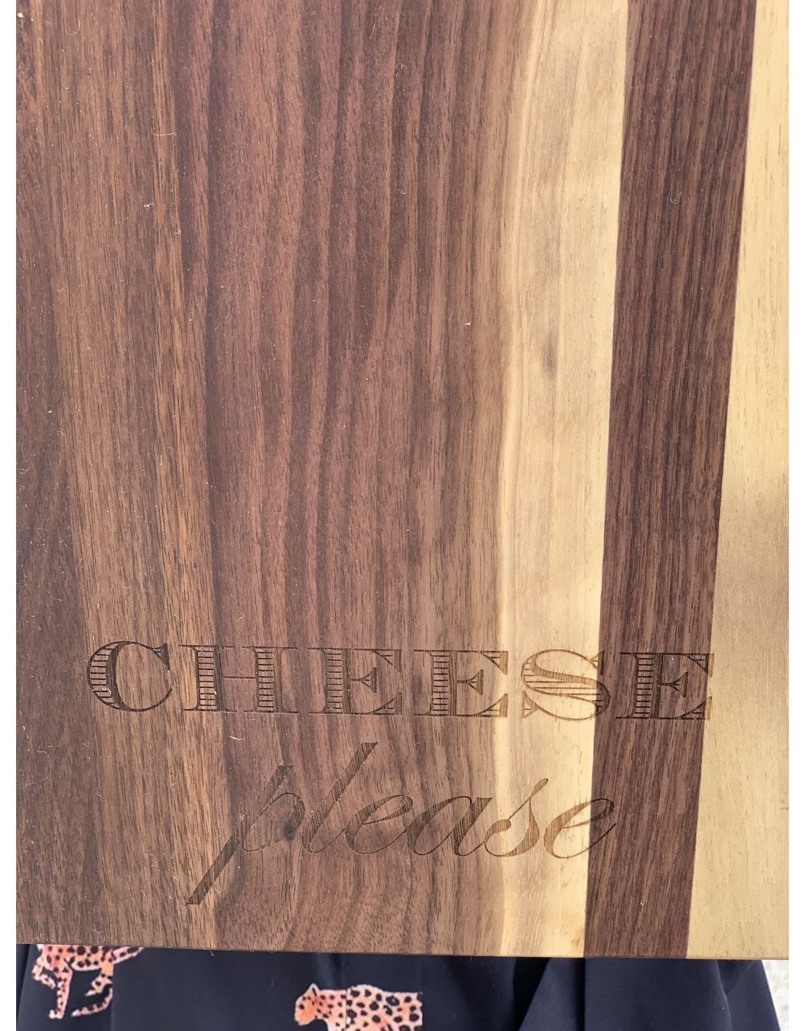 Maple Leaf at Home Cheese Please 24x12 Walnut Single Handle Cheese Board