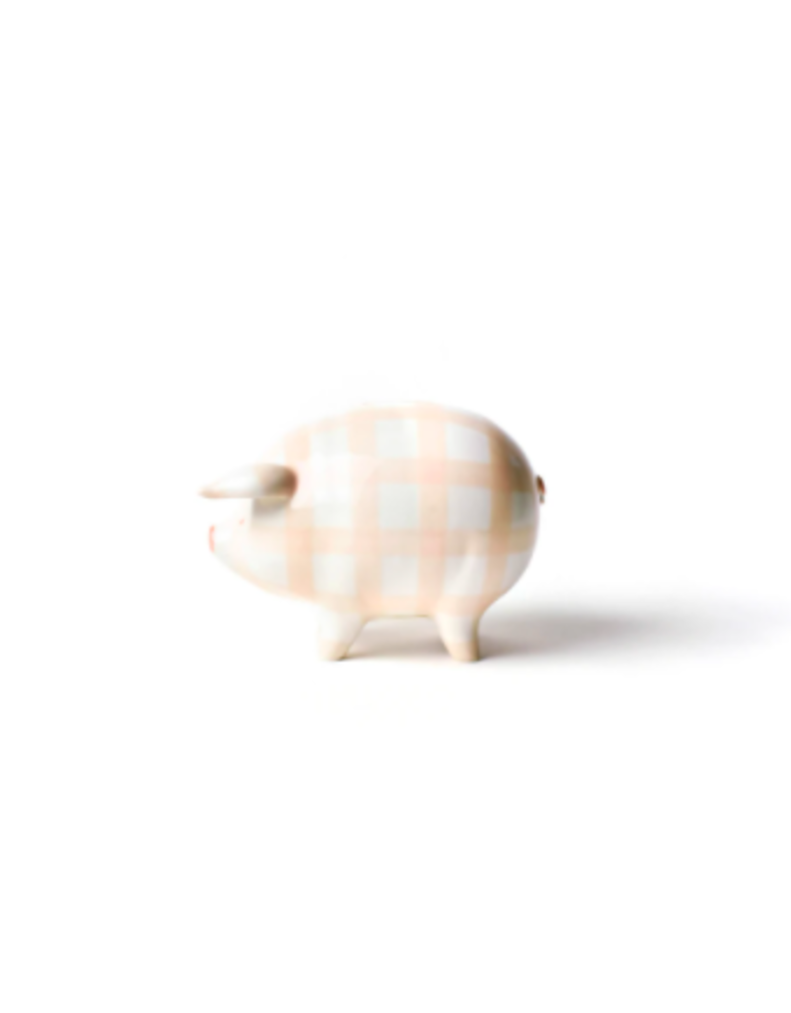 Coton Colors Gingham Piggy Bank in Pink