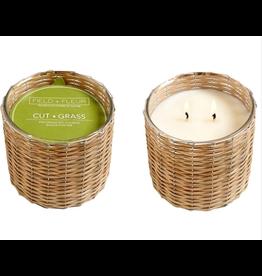 Field + Fleur Cut Grass 2-Wick Candle