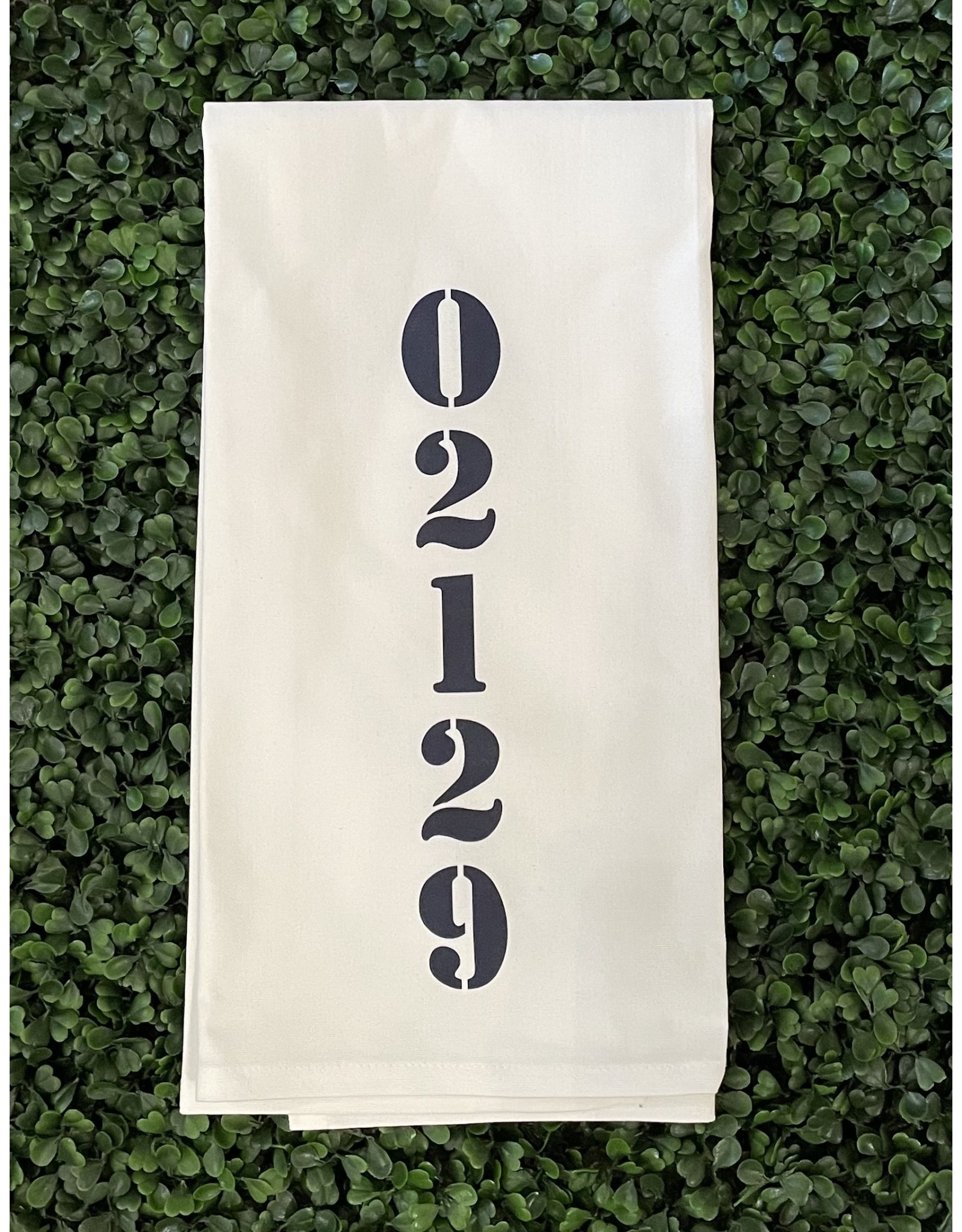 Marshes Fields and Hills 02129 Vertical Tea Towel in Hale Navy