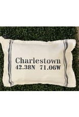 Marshes Fields and Hills Coordinate Border Stripe 12x18 Pillow in Hale Navy