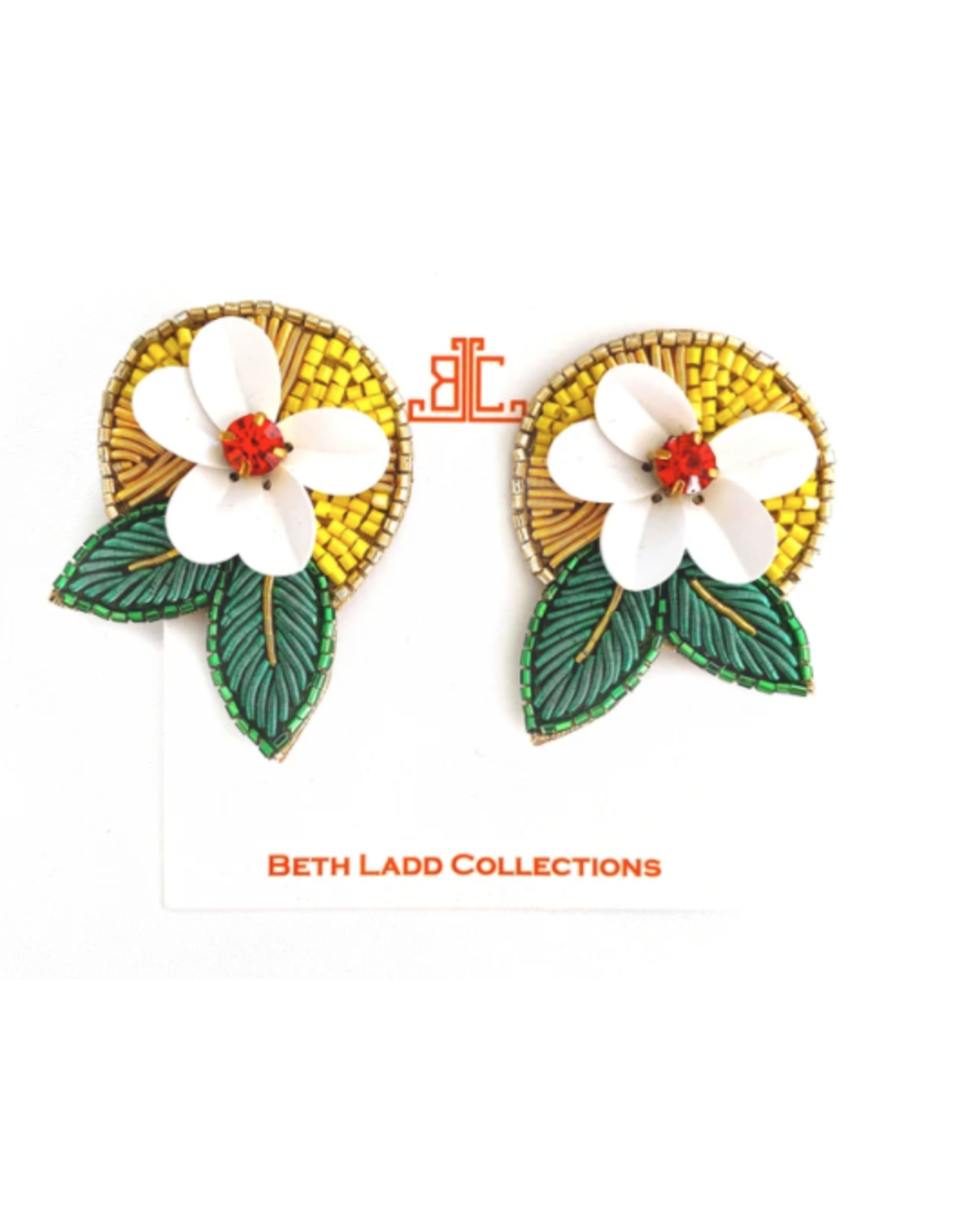 Beth Ladd Collection Tropical Fruit Flower Earrings by Beth Ladd