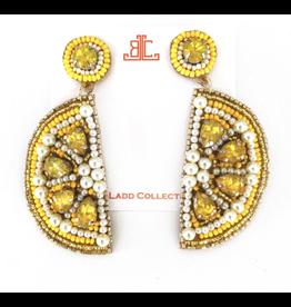 Beth Ladd Collection Lemon Beaded Earrings by Beth Ladd