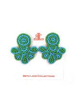 Beth Ladd Collection Love Studs in Green and Turquoise by Beth Ladd