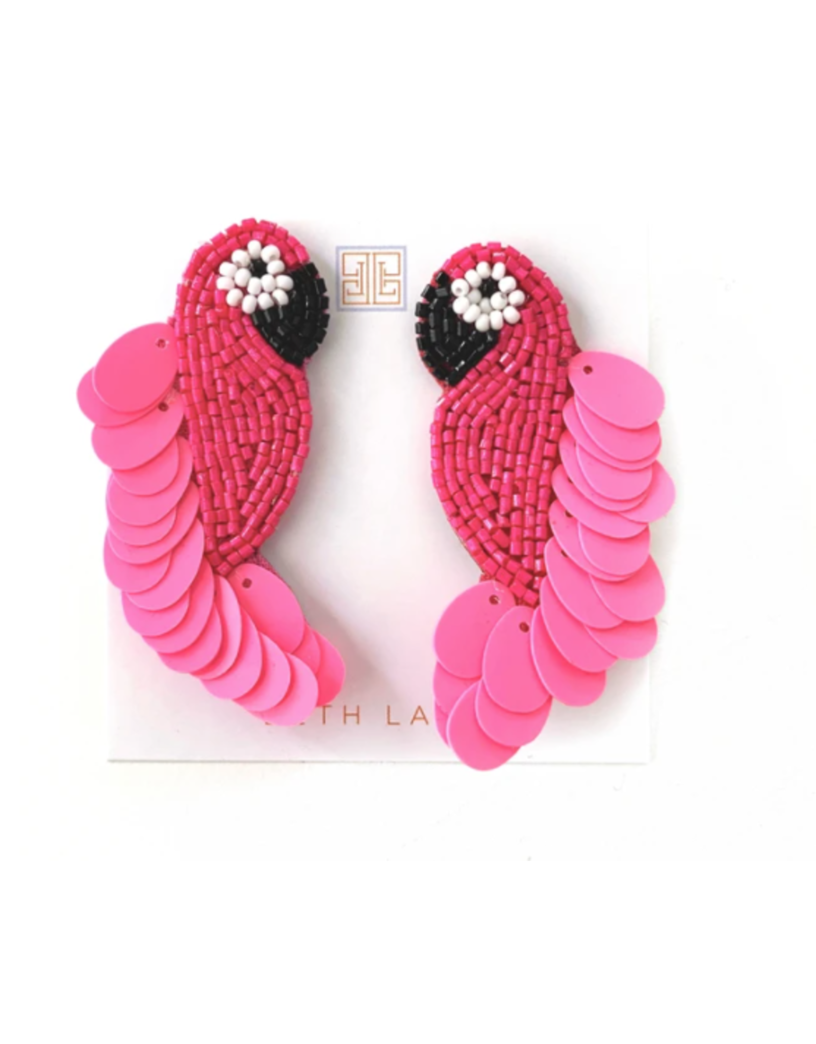 Beth Ladd Collection Pink Parrot Earring by Beth Ladd
