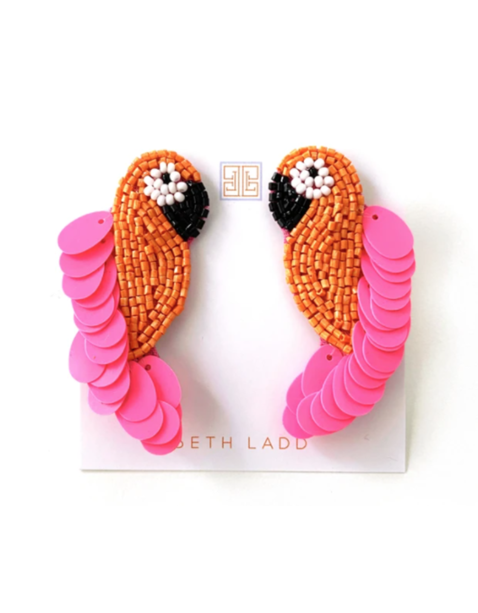 Beth Ladd Collection Orange Parrot Earring by Beth Ladd