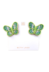 Beth Ladd Collection Green Butterfly Stud by Beth Ladd