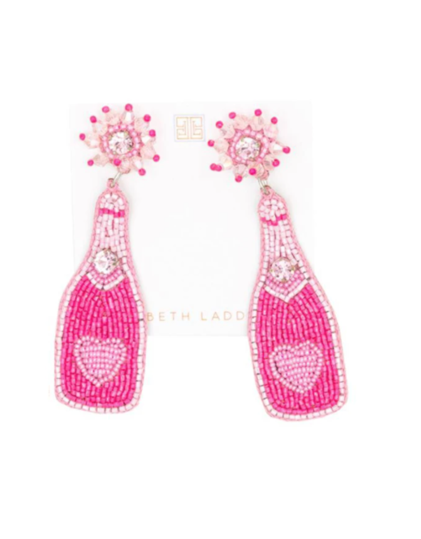 Beth Ladd Collection Heart Champagne Earrings by Beth Ladd