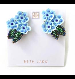 Beth Ladd Collection Blue Hydrangea Stud by Beth Ladd