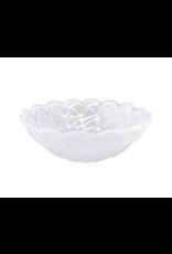 Mariposa Alabaster Small Scallop Rim Bowl in White