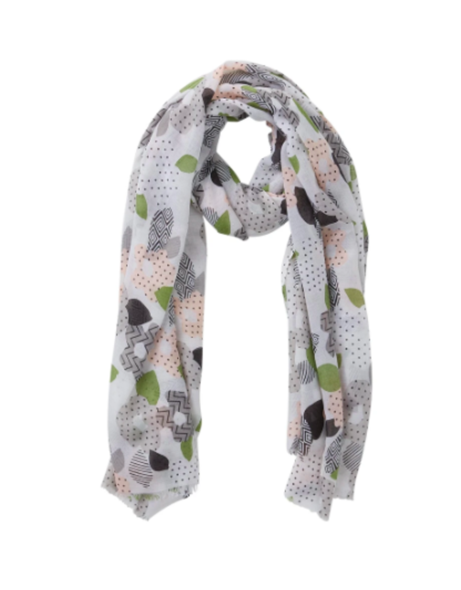 Gray Blooming Poppy  Scarf
