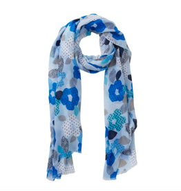 Blue Blooming Poppy  Scarf