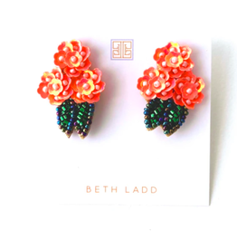 Beth Ladd Collection Pink Hydrangea Stud by Beth Ladd