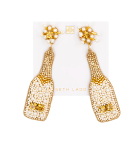Beth Ladd Collection Pearl Champagne Earrings by Beth Ladd