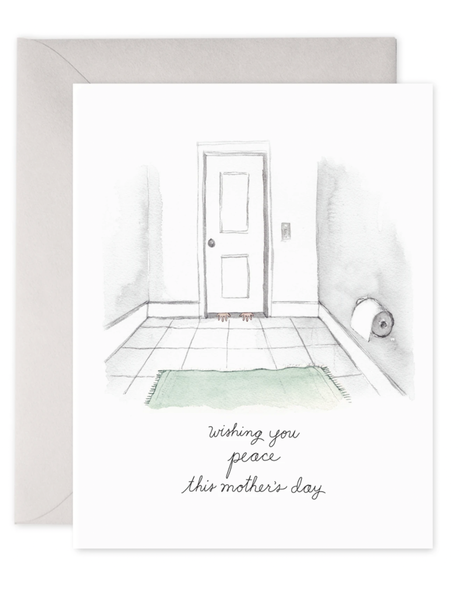 E. Frances Bathroom Peace Card