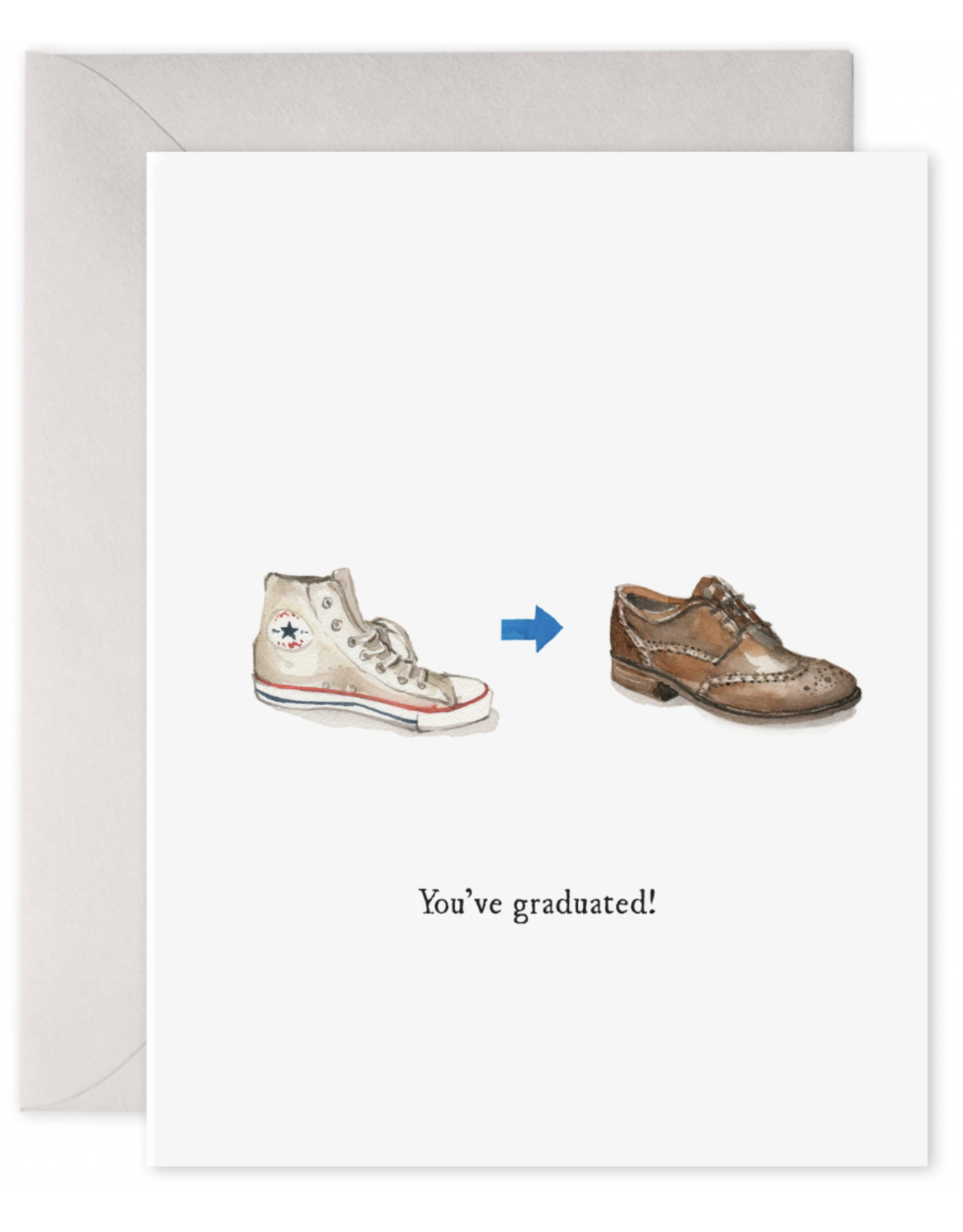 E. Frances Grad Shoes Card