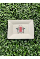 Dishique Red Door Topiaries with Bunker Hill Flag Mini Dish
