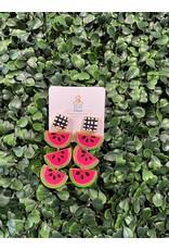 Musgrove & Main Handpainted Watermelon Drop Earring