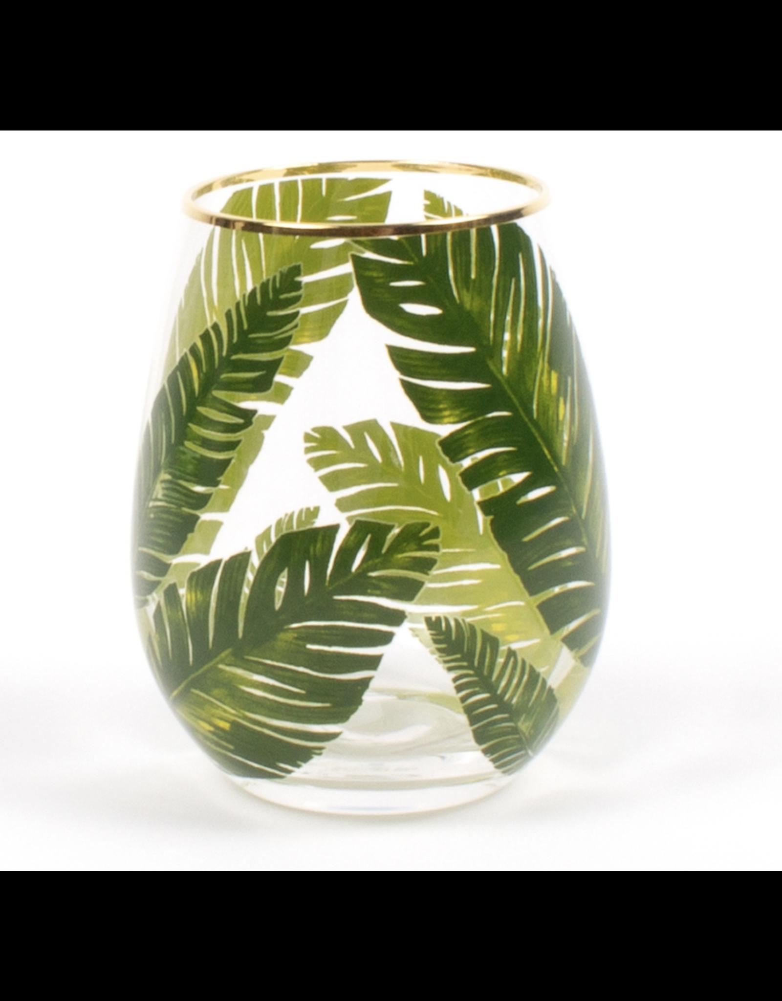 Stemless Palm Leaf Wine Glass
