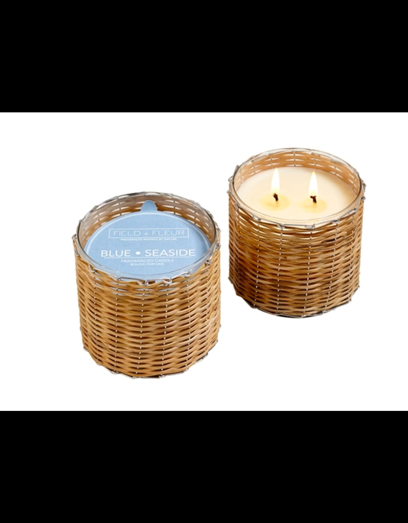 Field + Fleur Blue Seaside 2-Wick Candle