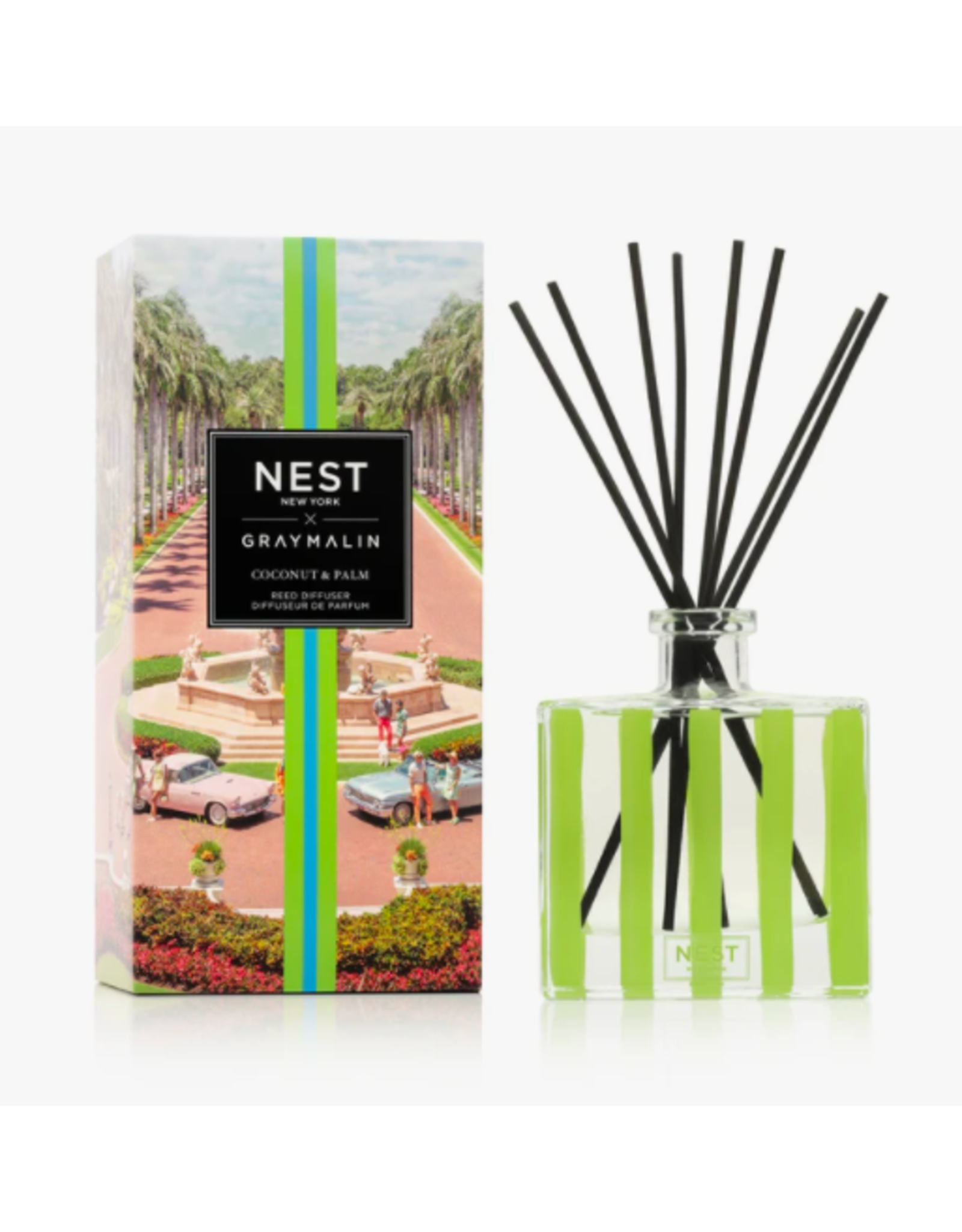 Nest Fragrances Coconut & Palm Reed Diffuser x Gray Malin