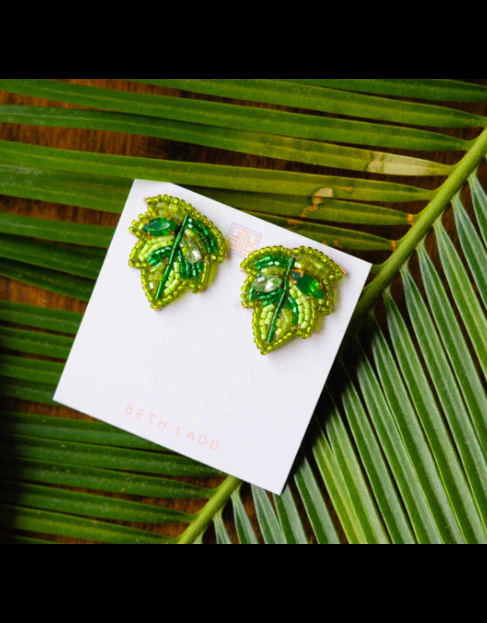 Beth Ladd Collection Palm Leaf Mini Studs by Beth Ladd