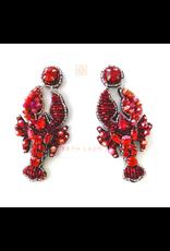 Beth Ladd Collection Hamdmade Lobster Earrings by Beth Ladd