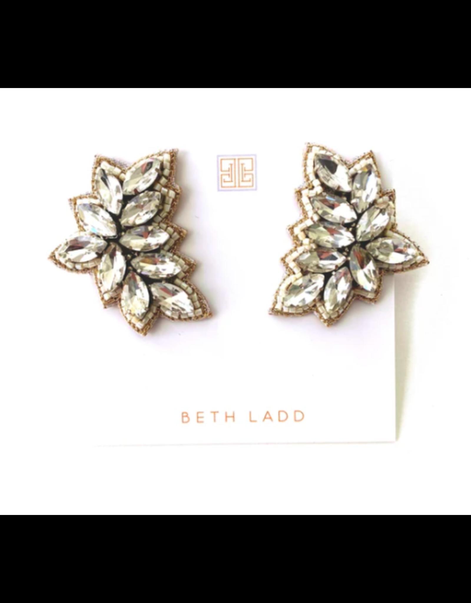Beth Ladd Collection Crosby Stud in Silver by Beth Ladd