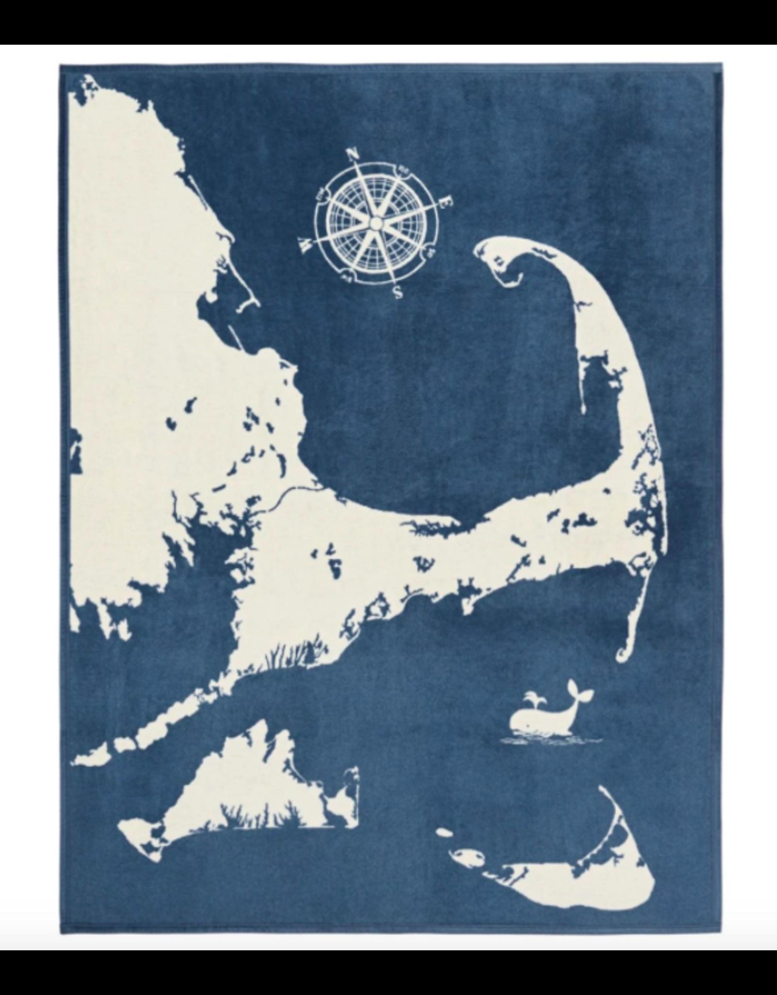ChappyWrap Cape and Islands in Ocean Blue Blanket by ChappyWrap