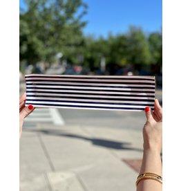 Jill Rosenwald Oyster Tray in Navy Slinky Stripe by Jill Rosenwald