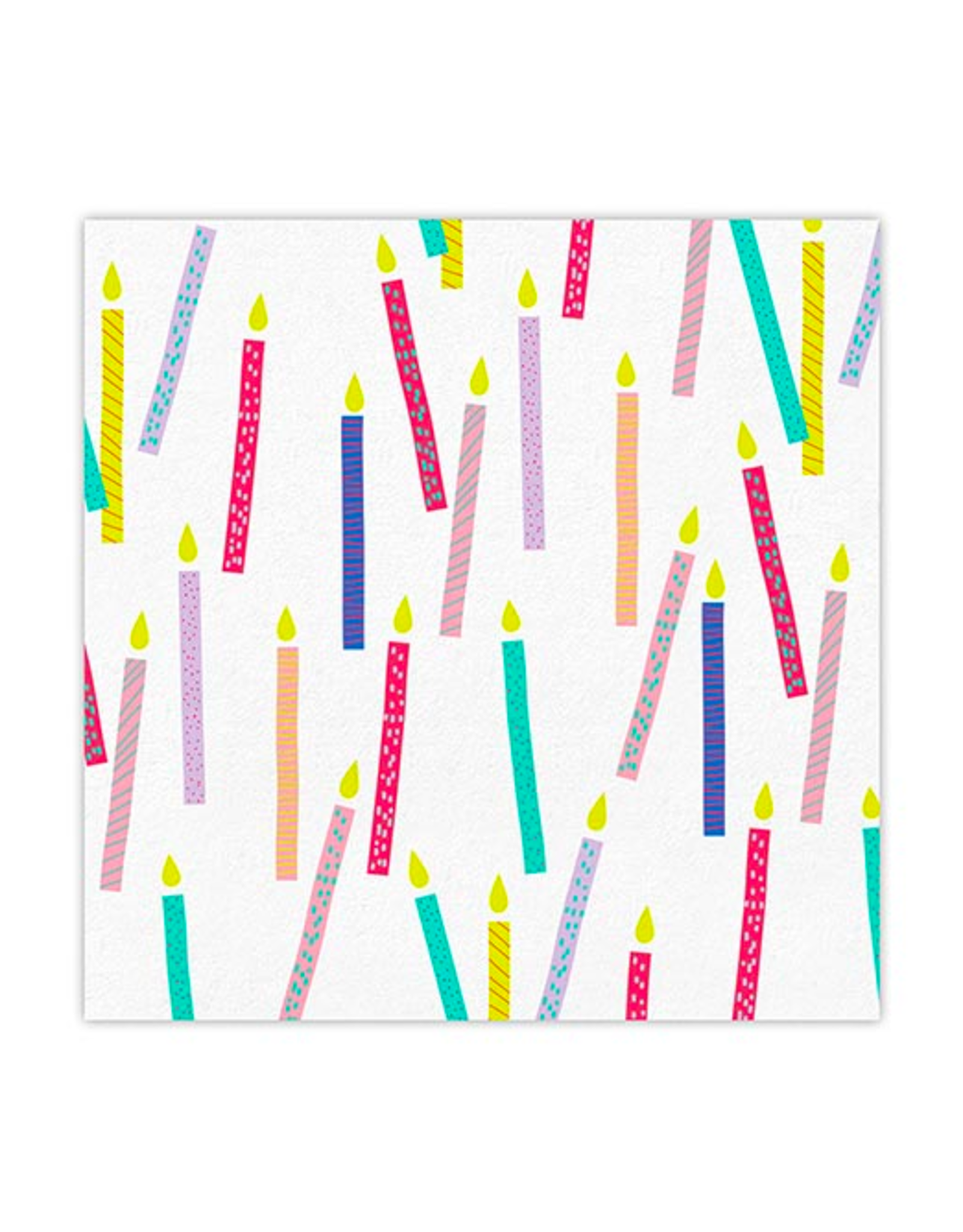 Slant Collections Birthday Candles Napkins