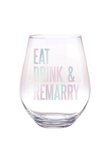Slant Collections Eat Drink and Remarry Jumbo Stemless Wineglass