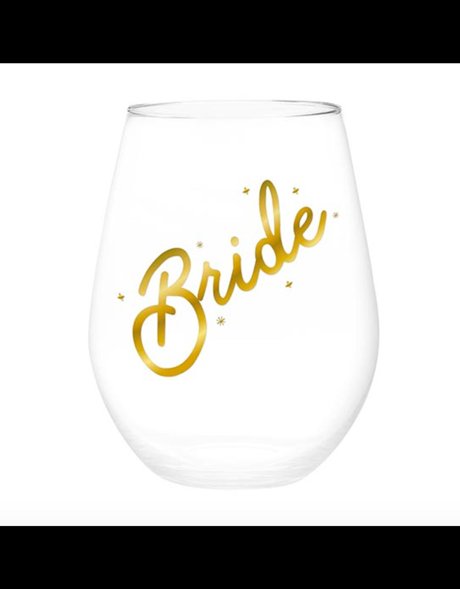 Slant Collections Bride Jumbo Stemless Wineglass