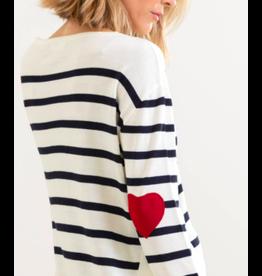 Mer Sea Amour Sweater in Navy Stripe