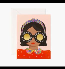 Rifle Paper Co. Headband & Glasses Birthday Girl Card