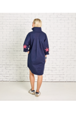 Caryn Lawn Navy Star One Size Dress