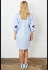 Caryn Lawn Light Blue Star One Size Dress
