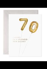 E. Frances Helium 70 Birthday Card