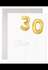 E. Frances Helium 30 Birthday Card