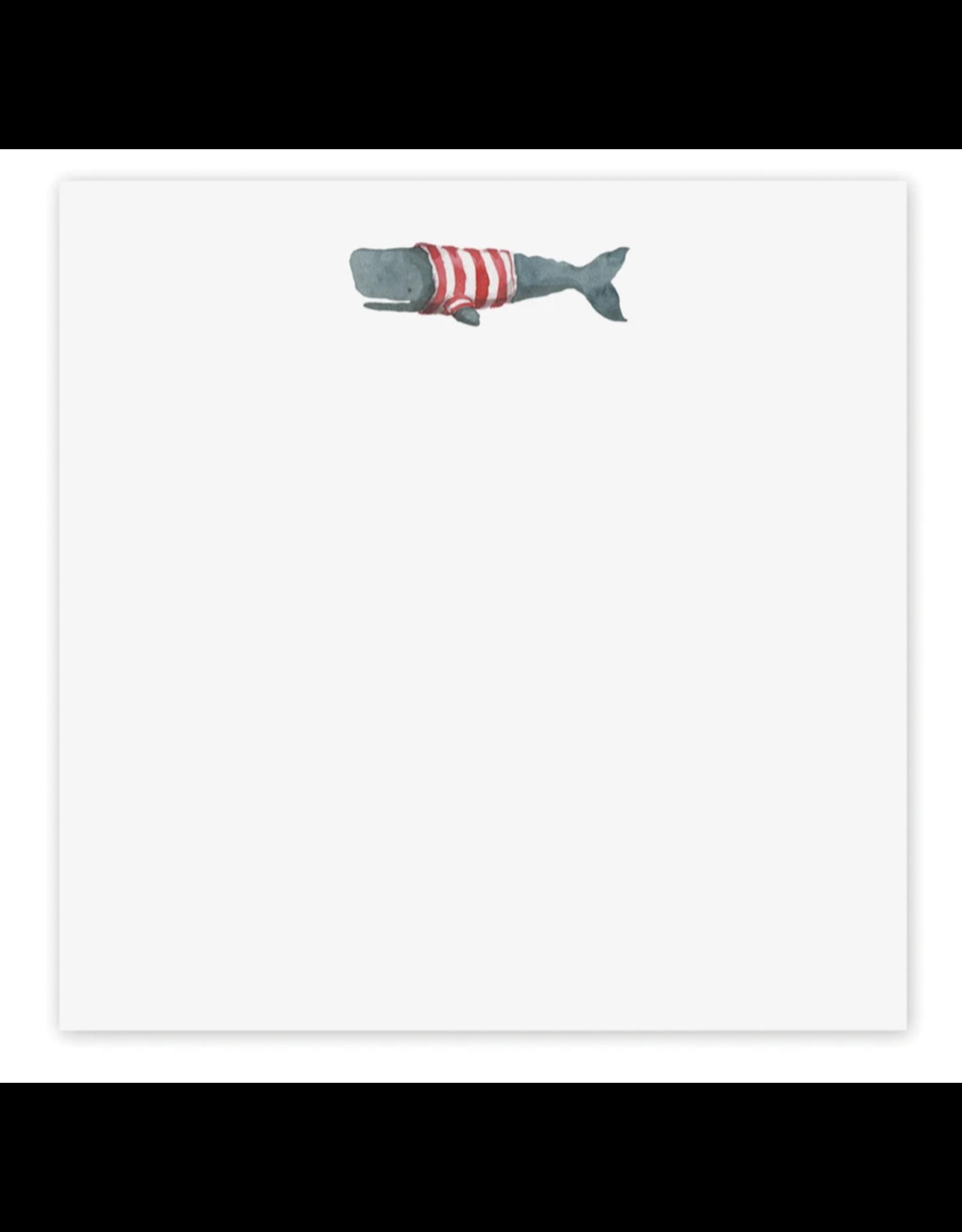 E. Frances Stripey Whale Notepad