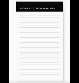 Sapling Press Produce Grocery Pad Notepad