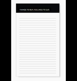 Sapling Press Feelings Grocery Pad Notepad