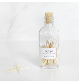Noted Glass Bottle Matches with White Tips